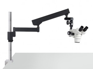 Forensics stereo microscope with flex stand