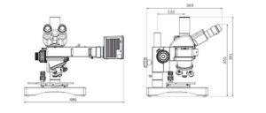 Motic Met Microscope BA310MET-H Dimensions