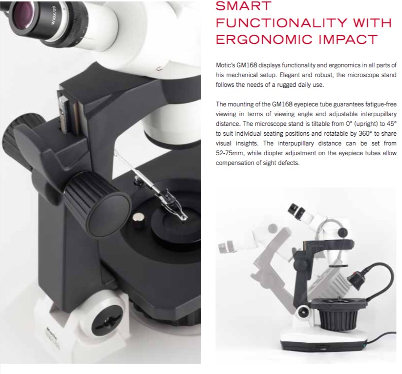 Motic Gemmology stereo zoom microscope from MMS Microscopes
