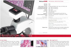 Motic 1080 BMH HDMI Microscope Camera with HDMI Screen From MMS Microscopes
