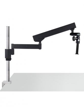 Flex arm stereo microscope stand Ø 32mm pole, 400mm column