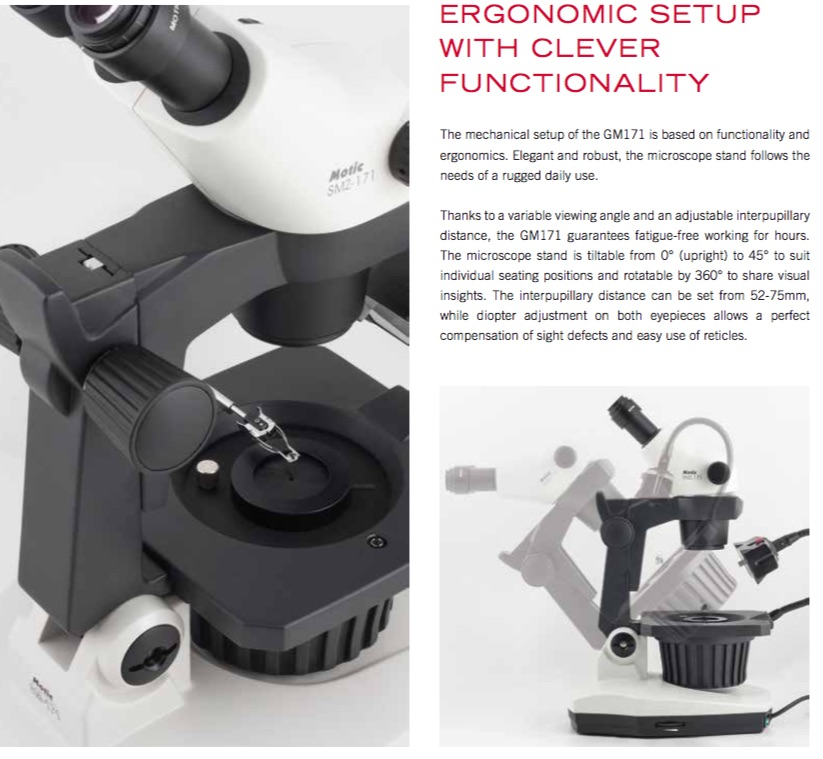 Motic GM171 Gemmology Microscope from MMS Microscopes