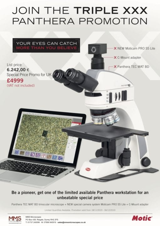 Met microscope with camera promotion